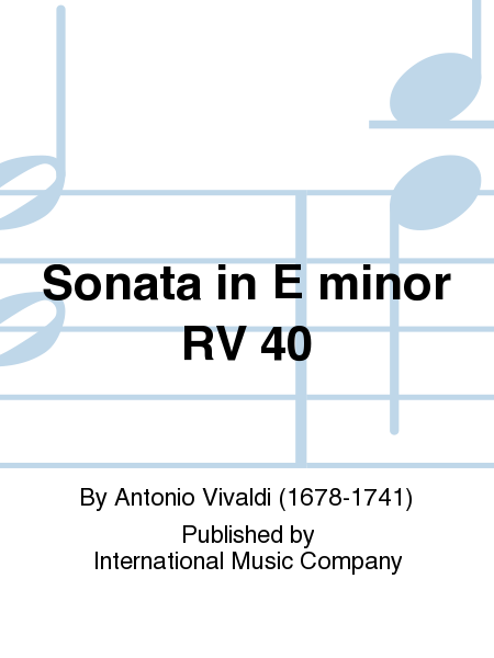 Sonata in E minor RV 40