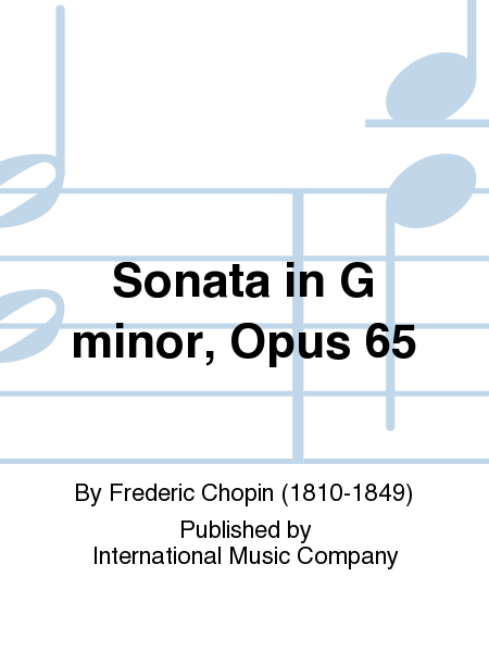 Sonata in G minor, Opus 65