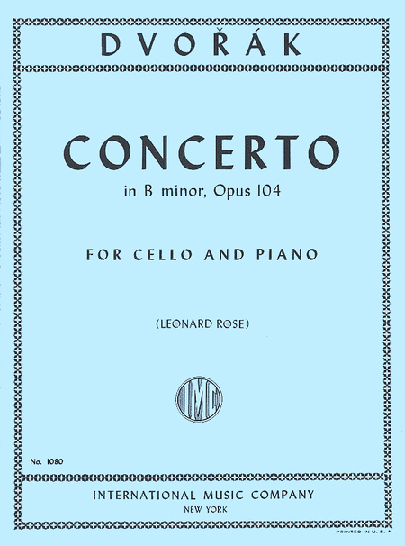 Concerto in B minor, Opus 104