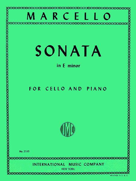 Benedetto marcello sonata in e minor pdf files