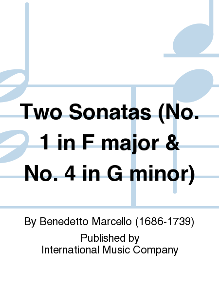 Two Sonatas (No. 1 in F major & No. 4 in G minor)