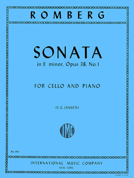 Sonata in E minor, Op. 38 No. 1