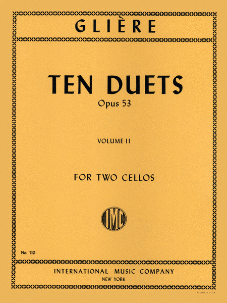 Ten Duets, Opus 53 - Volume II