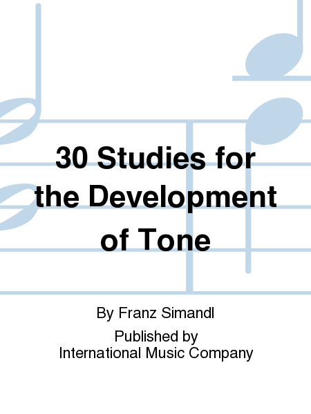 30 Studies for the Development of Tone