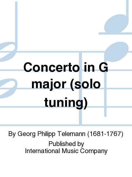 Concerto in G major (solo tuning)