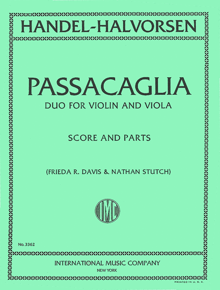 Passacaglia - Duo for Violin and Viola
