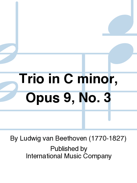 Trio in C minor, Opus 9, No. 3