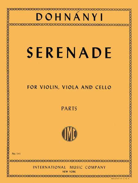 Serenade in C major, Opus 10