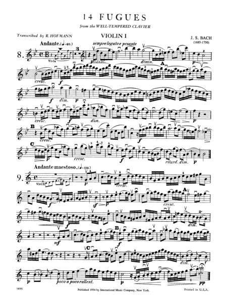 14 Fugues (from
