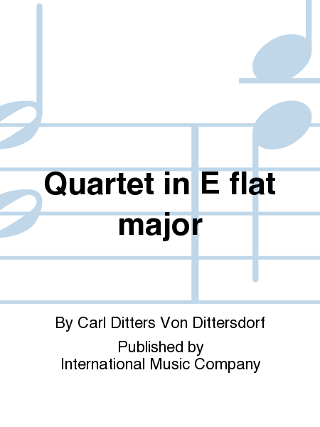 Quartet in E flat major