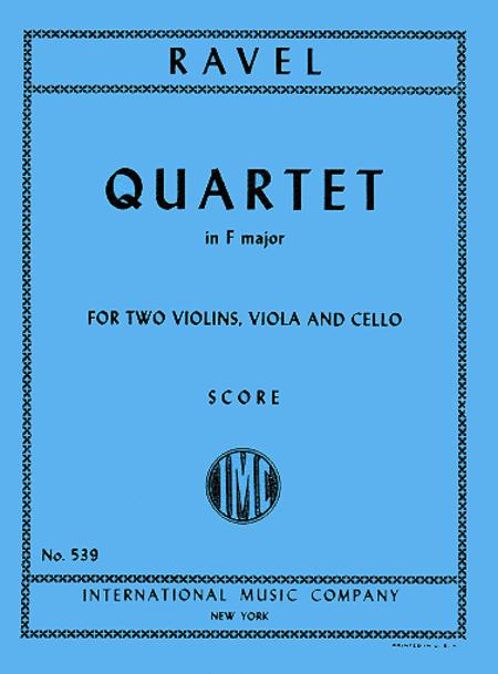 String Quartet in F major (miniature score)