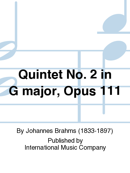 Quintet No. 2 in G major, Opus 111