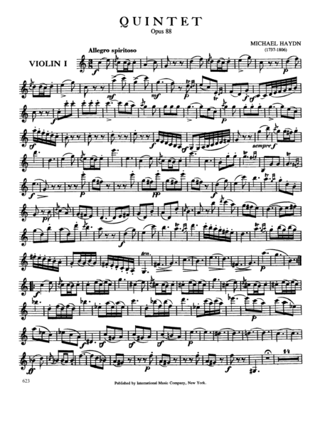 Quintet in C major, Opus 88