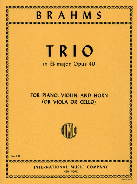 Trio in E flat major, Op. 40