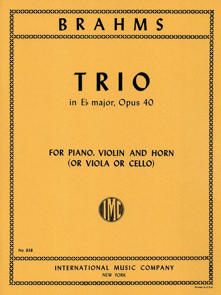 Trio in E flat major, Op. 40