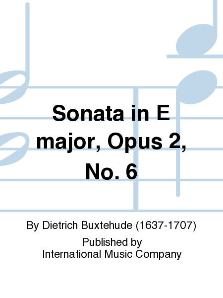 Sonata in E major, Opus 2, No. 6
