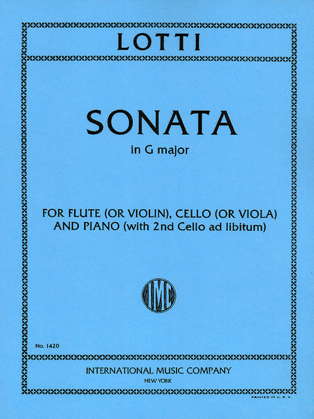 Sonata in G major for Flute (or Violin), Viola (or Cello) & Piano