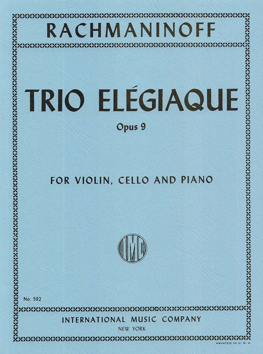 Trio Elegiaque No. 2 in D minor, Opus 9