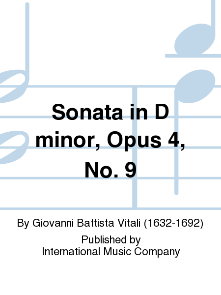 Sonata in D minor, Opus 4, No. 9