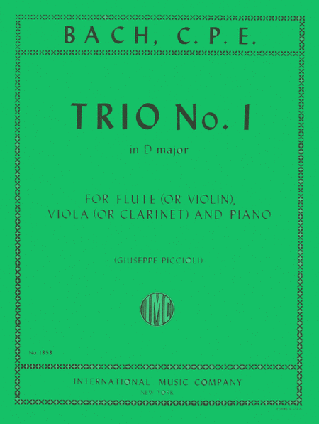Trio No. 1 in D major for Flute, Clarinet & Piano or Flute (Violin), Viola & Piano