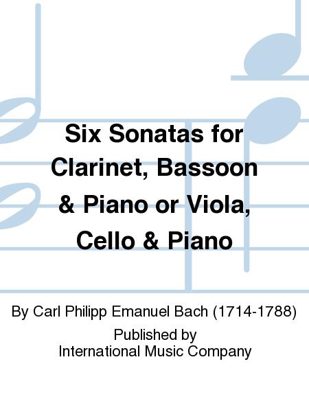 Six Sonatas for Clarinet, Bassoon & Piano or Viola, Cello & Piano