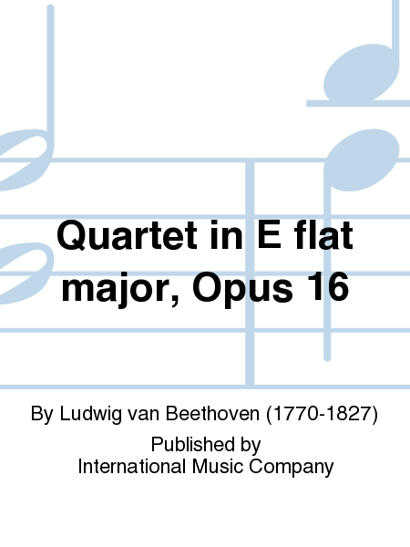 Quartet in E flat major, Opus 16