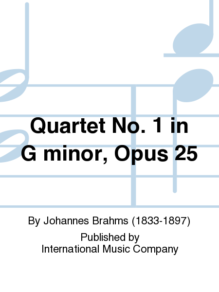Quartet No. 1 in G minor, Opus 25