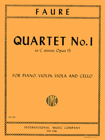 Quartet No. 1 in C minor, Op. 15