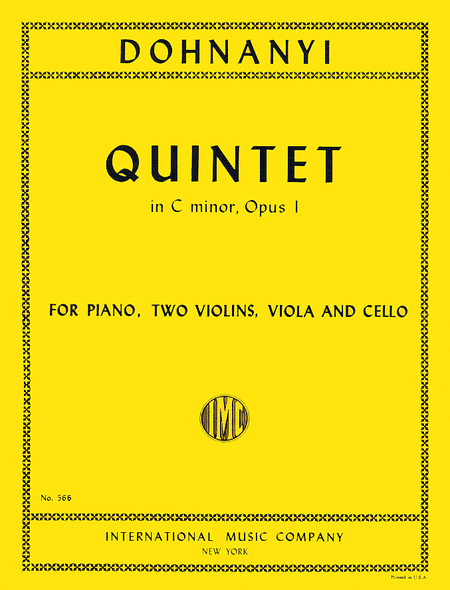 Quintet in C minor, Opus 1