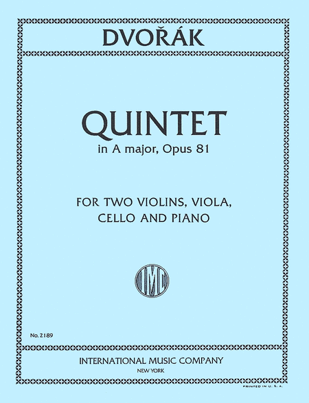 Quintet in A major, Opus 81