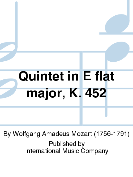 Quintet in E flat major, K. 452