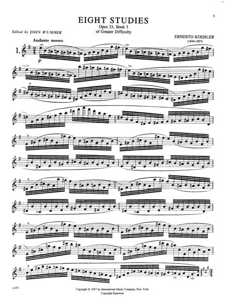 The Progress in Flute Playing, Opus 33, Volume III