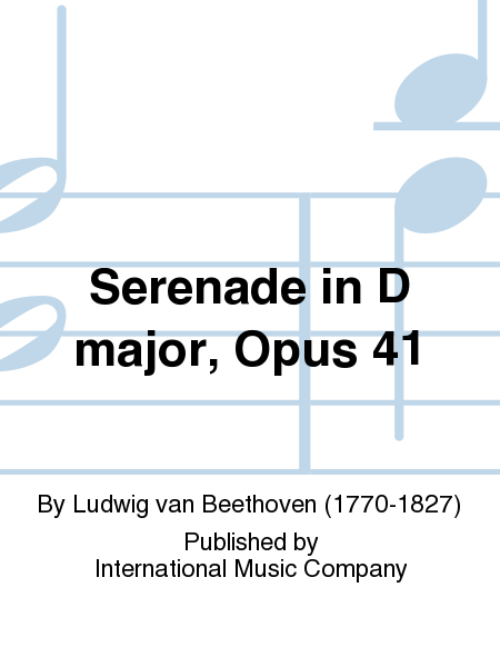 Serenade in D major, Opus 41
