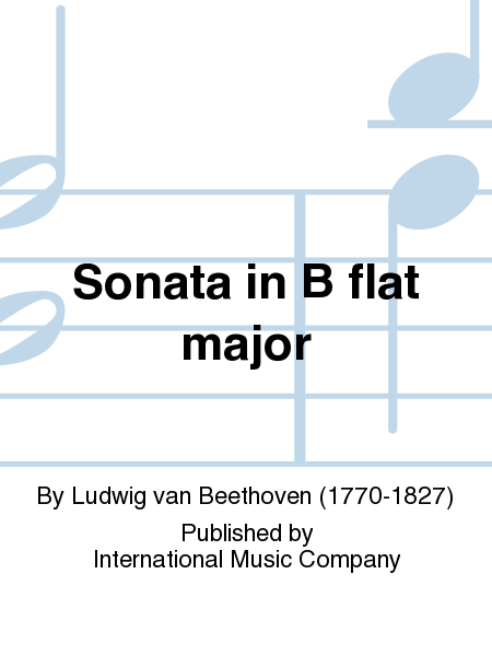 Sonata in B flat major