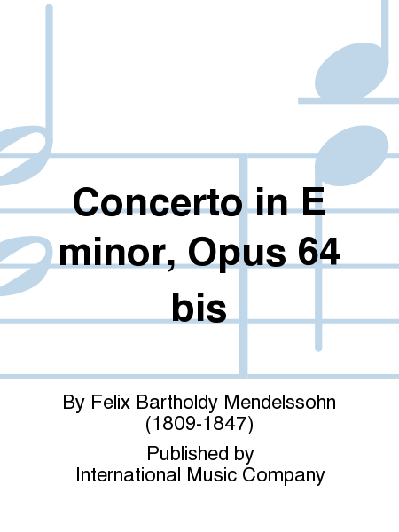 Concerto in E minor, Opus 64 bis