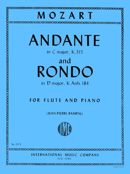 Andante in C major, K. 315 & Rondo in D major K. Anh. 184