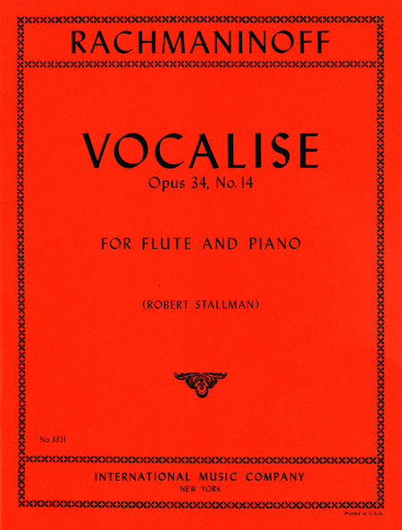 Vocalise, Opus 34 No. 14