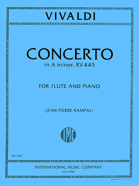Concerto in A minor, RV 445, Piccolo (Recorder)