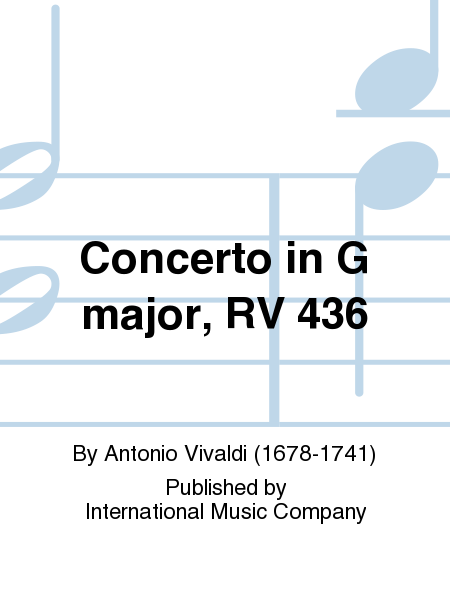 Concerto in G major, RV 436
