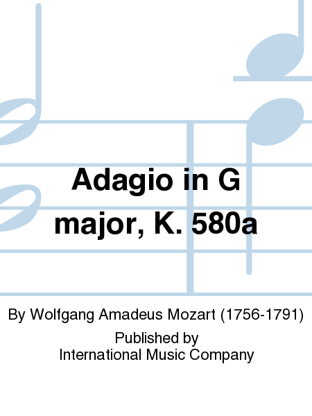 Adagio in G major, K. 580a