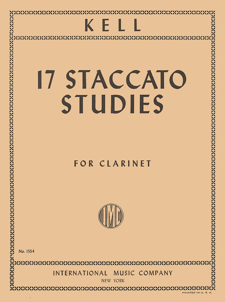 17 Staccato Studies for Clarinet
