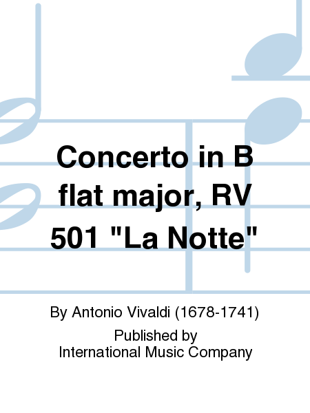 Concerto in B flat major, RV 501