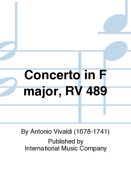 Concerto in F major, RV 489