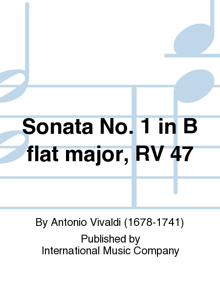Sonata No. 1 in B flat major, RV 47