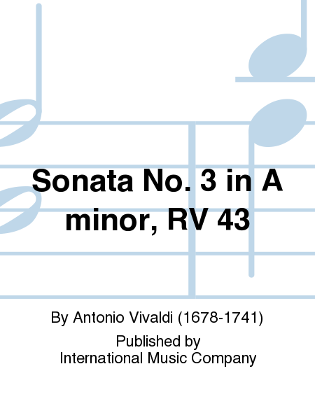 Sonata No. 3 in A minor, RV 43
