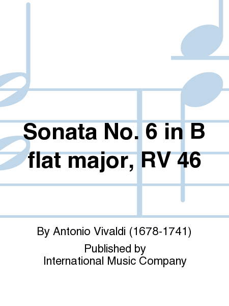 Sonata No. 6 in B flat major, RV 46