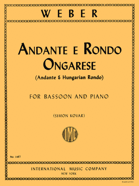Andante & Rondo Ongarese, Op. 35