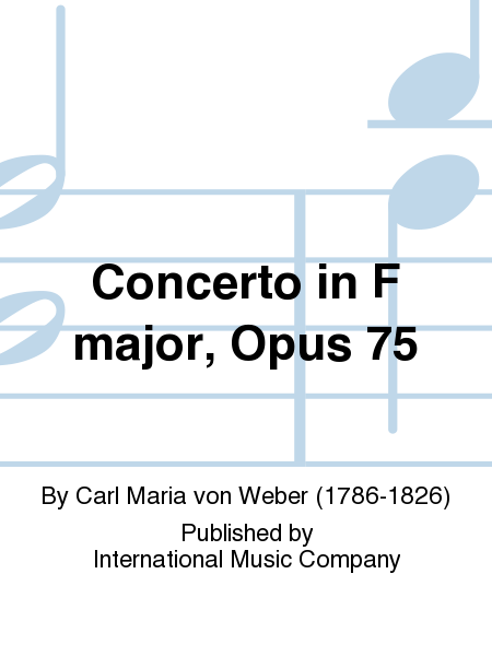 Concerto in F major, Opus 75