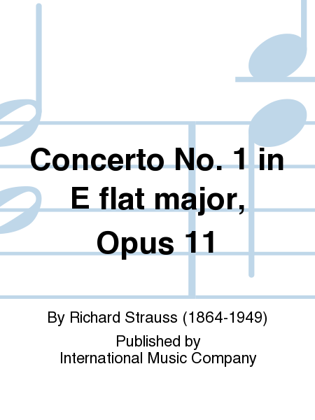 Concerto No. 1 in E flat major, Opus 11