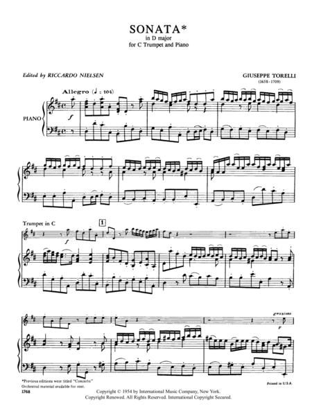 Sonata in D major (Trumpet in C)